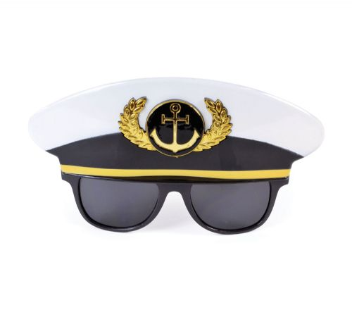 Sailor Cap Glasses Navy Crew Military Seaman Fancy Dress Accessory